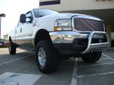 2002 Oxford White Ford F250 Super Duty Lariat Crew Cab 4x4 #28461899