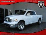 2010 Stone White Dodge Ram 1500 Laramie Crew Cab #28461293