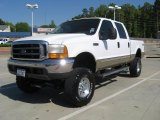 2000 Oxford White Ford F250 Super Duty Lariat Crew Cab 4x4 #28461793