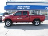 2007 Flame Red Dodge Ram 1500 SLT Quad Cab 4x4 #28461927