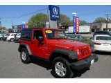 2010 Flame Red Jeep Wrangler Rubicon 4x4 #28461313