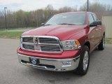 2010 Inferno Red Crystal Pearl Dodge Ram 1500 Big Horn Quad Cab 4x4 #28461937