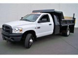 2007 Bright White Dodge Ram 3500 ST Regular Cab 4x4 Chassis #28461337