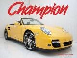 2008 Speed Yellow Porsche 911 Turbo Cabriolet #28527389
