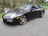 2008 Basalt Black Metallic Porsche 911 Carrera 4S Cabriolet #28527400