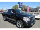 2008 Brilliant Black Crystal Pearl Dodge Ram 1500 Laramie Quad Cab 4x4 #28527415