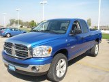 2008 Electric Blue Pearl Dodge Ram 1500 Big Horn Edition Quad Cab 4x4 #28527569