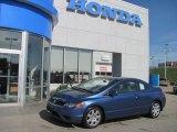 2007 Atomic Blue Metallic Honda Civic LX Coupe #28527507