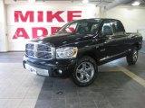 2008 Brilliant Black Crystal Pearl Dodge Ram 1500 Laramie Quad Cab #28527641