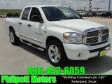 2007 Bright White Dodge Ram 1500 Laramie Quad Cab #28527650