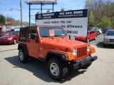 2006 Impact Orange Jeep Wrangler X 4x4 #28594879