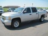 2010 Sheer Silver Metallic Chevrolet Silverado 1500 LS Crew Cab #28595153