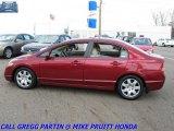 2007 Tango Red Pearl Honda Civic LX Sedan #28594649