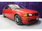 2001 Bright Red BMW 3 Series 325i Coupe #28594955