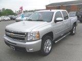 2010 Sheer Silver Metallic Chevrolet Silverado 1500 LTZ Crew Cab #28595323