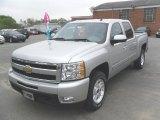 2010 Sheer Silver Metallic Chevrolet Silverado 1500 LTZ Crew Cab #28595327