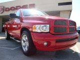 2005 Flame Red Dodge Ram 1500 Laramie Quad Cab #28659726