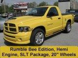 2005 Solar Yellow Dodge Ram 1500 SLT Rumble Bee Regular Cab #28659109