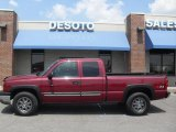 2004 Sport Red Metallic Chevrolet Silverado 1500 LS Extended Cab 4x4 #28659419