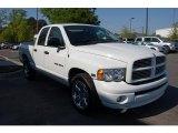 2005 Bright White Dodge Ram 1500 SLT Quad Cab #28659629