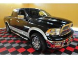 2009 Brilliant Black Crystal Pearl Dodge Ram 1500 Laramie Crew Cab 4x4 #28659675