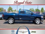 2007 Patriot Blue Pearl Dodge Ram 1500 Big Horn Edition Quad Cab 4x4 #28659179