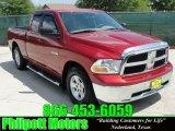 2009 Inferno Red Crystal Pearl Dodge Ram 1500 SLT Quad Cab #28659462