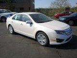 2010 White Platinum Tri-coat Metallic Ford Fusion SE #28659318