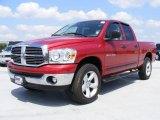 2007 Inferno Red Crystal Pearl Dodge Ram 1500 SLT Quad Cab 4x4 #28659797