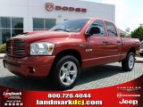 2008 Inferno Red Crystal Pearl Dodge Ram 1500 Sport Quad Cab #28659332
