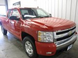 2008 Victory Red Chevrolet Silverado 1500 LT Extended Cab 4x4 #28659711