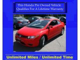 2007 Tango Red Pearl Honda Civic EX Coupe #28659223
