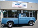 Blue Ford F100 in 1959