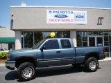 2006 Blue Granite Metallic Chevrolet Silverado 1500 Z71 Extended Cab 4x4 #28659542