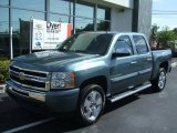2010 Blue Granite Metallic Chevrolet Silverado 1500 LT Crew Cab #28723524