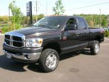 2007 Brilliant Black Crystal Pearl Dodge Ram 3500 SLT Quad Cab 4x4 #28723770