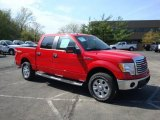 2010 Vermillion Red Ford F150 XLT SuperCrew 4x4 #28723543