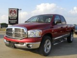 2008 Inferno Red Crystal Pearl Dodge Ram 1500 Lone Star Edition Quad Cab #28753291