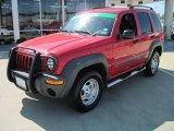 2002 Flame Red Jeep Liberty Sport #28753393