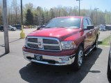 2010 Inferno Red Crystal Pearl Dodge Ram 1500 Big Horn Crew Cab 4x4 #28759493