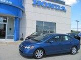 2007 Atomic Blue Metallic Honda Civic LX Sedan #28758969