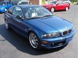 2002 Topaz Blue Metallic BMW 3 Series 325i Coupe #28759462