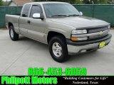 1999 Sunset Gold Metallic Chevrolet Silverado 1500 LS Extended Cab 4x4 #28759253