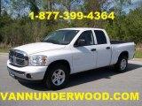 2008 Bright White Dodge Ram 1500 SLT Quad Cab #28801919