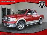 2010 Inferno Red Crystal Pearl Dodge Ram 1500 Laramie Crew Cab 4x4 #28801934