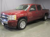 2009 Deep Ruby Red Metallic Chevrolet Silverado 1500 LT Crew Cab 4x4 #28802297