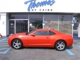 2010 Inferno Orange Metallic Chevrolet Camaro LT Coupe #28802469