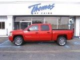 2009 Victory Red Chevrolet Silverado 1500 LT Crew Cab #28802477