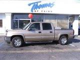 2005 Sandstone Metallic Chevrolet Silverado 1500 Z71 Crew Cab 4x4 #28802481