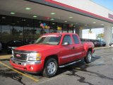 2005 Fire Red GMC Sierra 1500 Z71 Extended Cab 4x4 #28802319